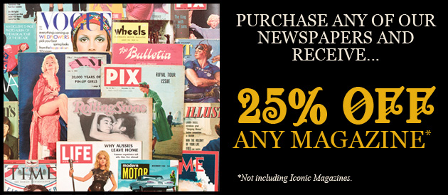 Purchase any of out Newspapers and Receive 25% off any magazine*
