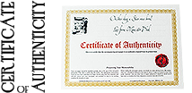 Certification of Authenticity