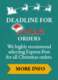 Deadline for xmas orders - We highly recommend selecting Express Post for all Christmas orders.